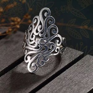 925 Silver plated adjustable ring